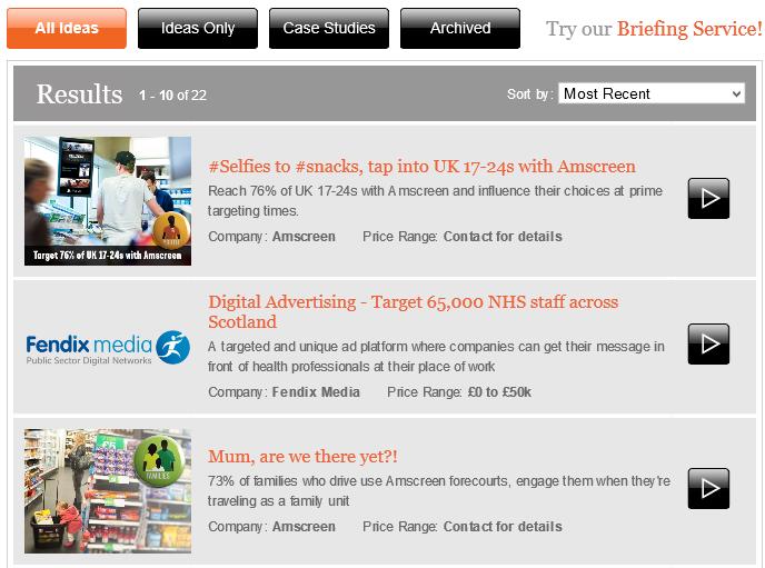 Digital advertising ideas