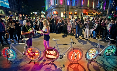 CASE STUDY: Unique video-bikes create impact for Intel event