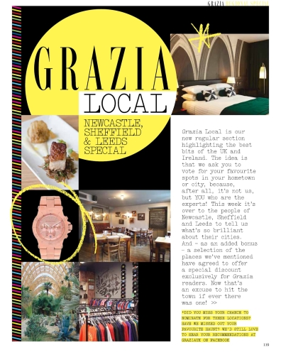 Partner with Grazia local - covering UK and Ireland
