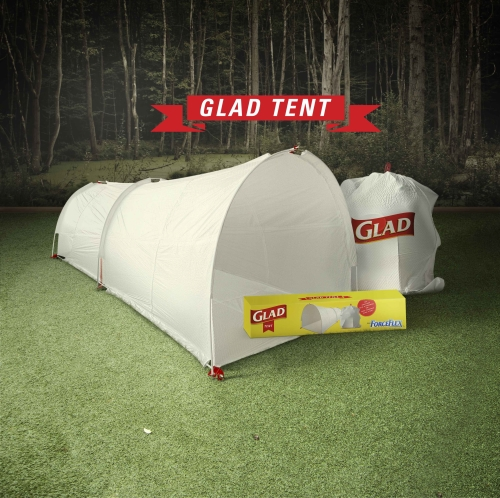 CASE STUDY: Glad create festival tents that turn into bin bags