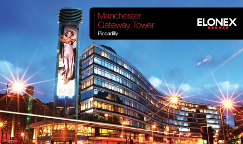 Advertising on the Manchester Piccadilly Gateway - LED Tower
