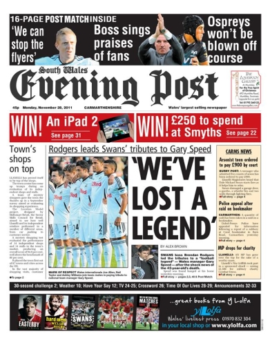Advertise in South Wales with the South Wales Evening Post