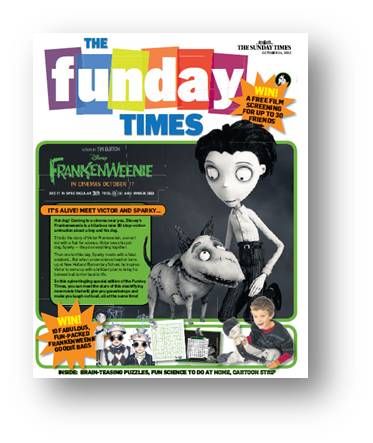CASE STUDY: Promoting Film to Kids via The Funday Times