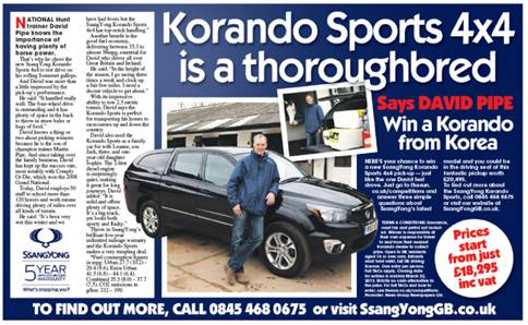 CASE STUDY: The Sun and SsangYong