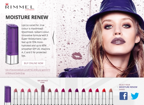 CASE STUDY: Promoting Rimmel's Moisture Renew Lipstick