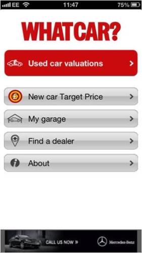 What Car? Valuations App