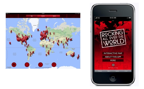 Sponsor Content on the Brand New Rocking All Over the World App