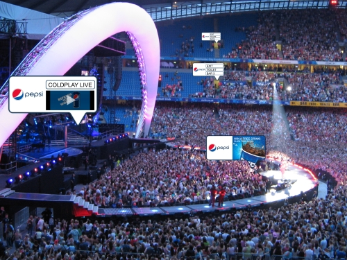 Enhance Live Concert/Festival Experiences with 'Virtual Signs'