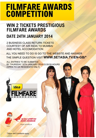 CASE STUDY: SonyTVAsia Filmfare Awards Competition for UK viewer