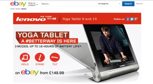 CASE STUDY: Lenevo influence eBay shoppers driving tablet sales