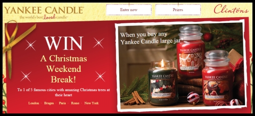 CASE STUDY: Yankee Candle & Clintons Christmas Promotion