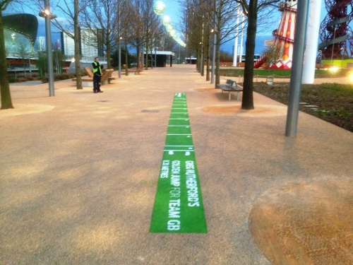 Floor Graphics across the Queen Elizabeth Olympic Park, London.