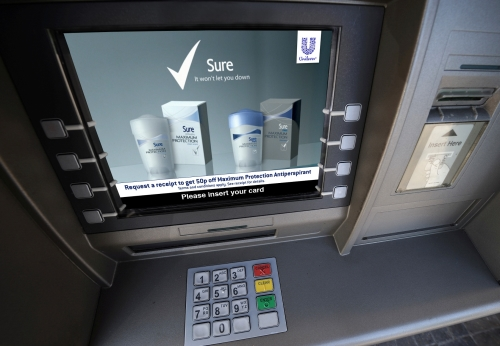 Advertise on a network of over 9000 cash machines.