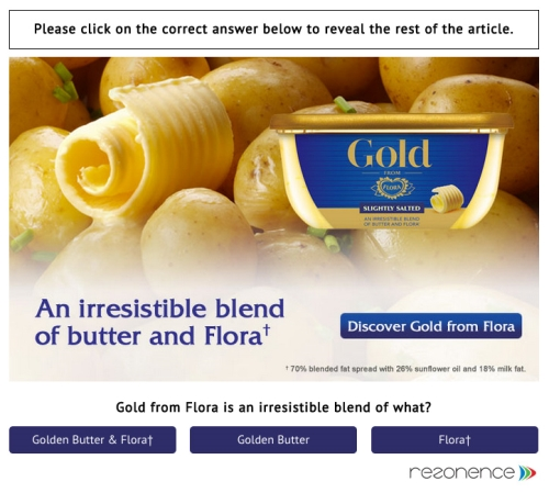 CASE STUDY: Flora achieves 86% brand recall using FreeWall®