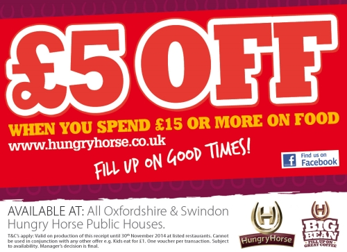 Hungry Horse Use Till Receipt Voucher To Drive Footfall