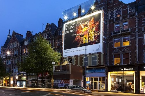 Outdoor Advertising on High Street Kensington