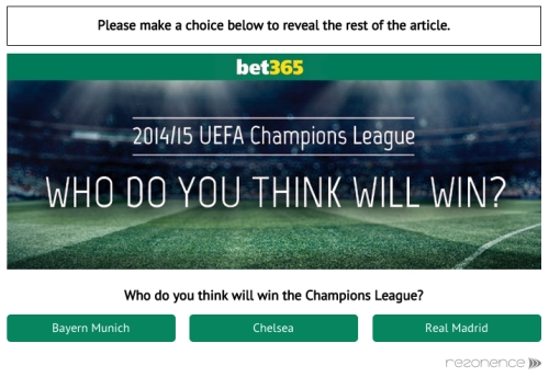 CASE STUDY: Engaging Real Time Advertising with Bet365