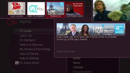 Advertising opportunities on Virgin Media's TiVo