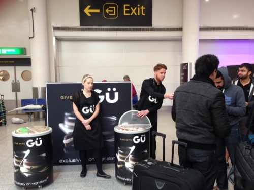 CASE STUDY: Gü sampling activity targeting Virgin passengers