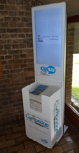Advertise on our innovative student newspaper dispenser screens