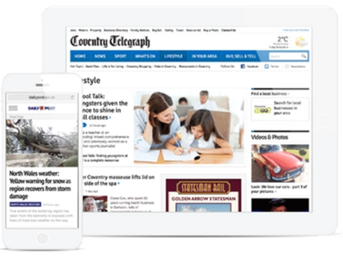 Strategic online advertising across the Trinity Mirror portfolio