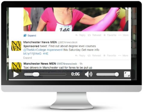 Sponsored Tweet across Trinity Mirror's local & national brands