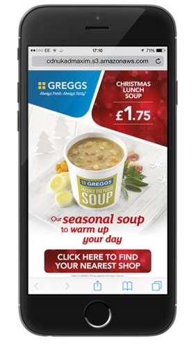CASE STUDY: Greggs promote Christmas soup offer using mobile