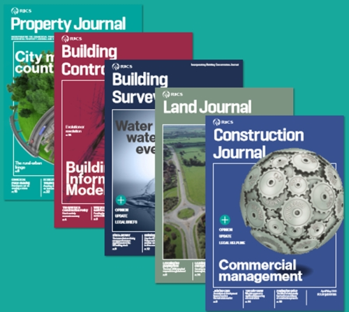 Advertising opportunities with RICS Journals