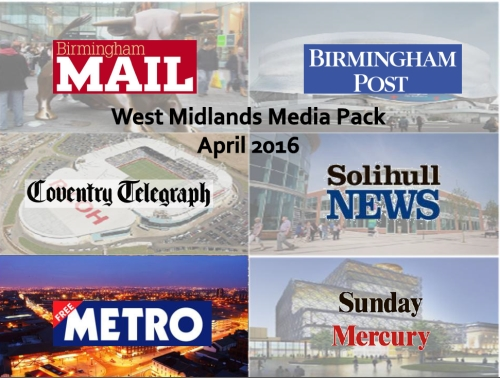 Advertise across our West Midlands portfolio
