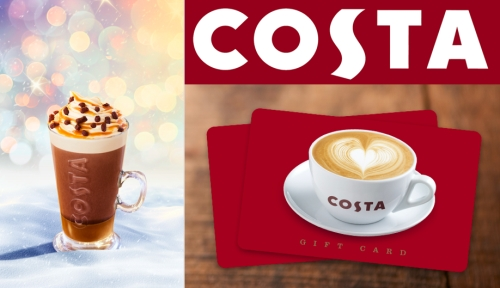 Costa Gift Cards for Christmas 2017