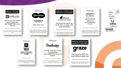 Advertise with WHSmith Branded Vouchers Printed at Tillpoints