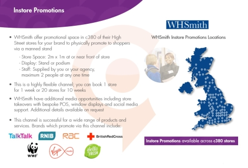 Advertising with WHSmith: Instore Promotions & Sampling