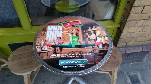 Advertise your brand on Coffee Shop Tablewraps