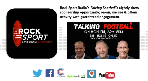 Sponsor Talking Football with Rock Sport Radio Scotland