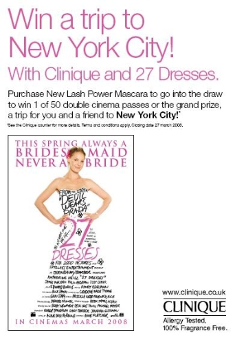 CASE STUDY: Clinique & 27 Dresses