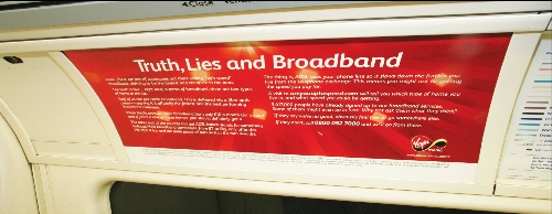 Advertising opportunities on London Underground Tube Car Panels