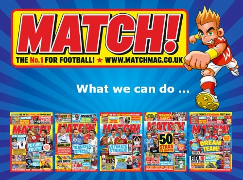 Target 534,000 7-19 year olds with MATCH! magazine and website