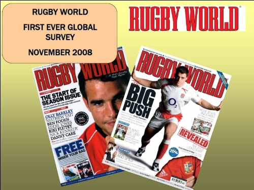 RESEARCH: Rugby World magazine's first-ever reader survey.