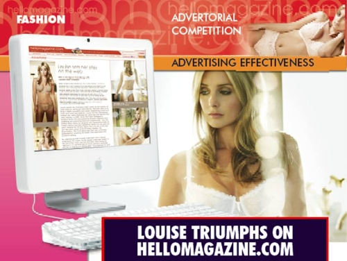 CASE STUDY: Louise Triumphs on hellomagazine.com