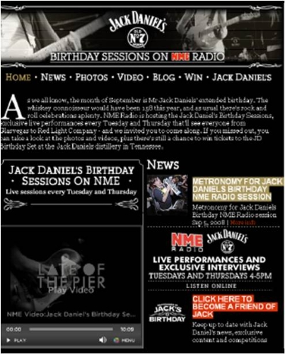 CASE STUDY: Jack Daniel celebrates his birthday with NME