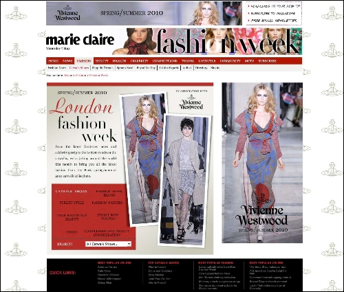 sponsorship of marie claire 39 s fashion week coverage time. Black Bedroom Furniture Sets. Home Design Ideas