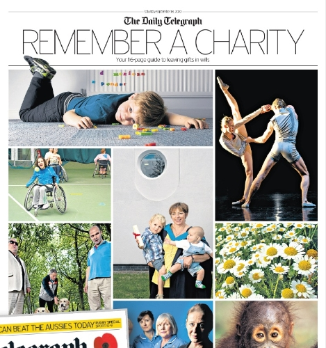 Feature your charity across a range of media with The Telegraph