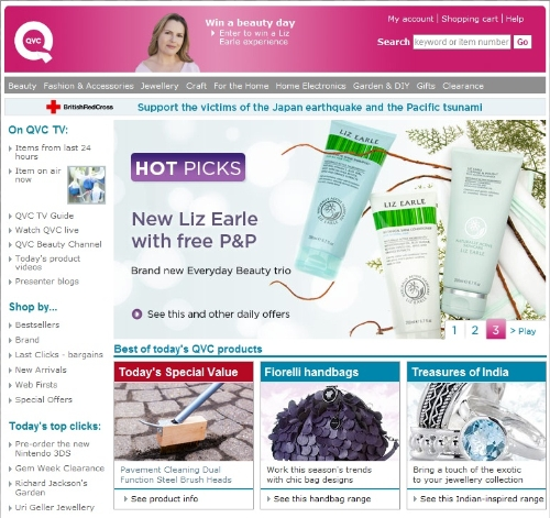 Qvc shopping online for Home shopping sites