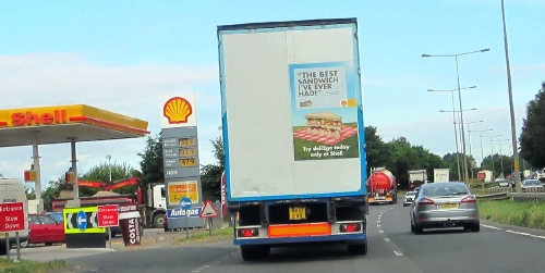 6 Sheet Advertising- In Direct View of Motorists on the Road