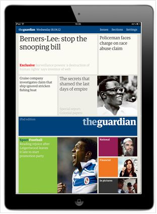 Advertise on the Guardian & Observer iPad edition